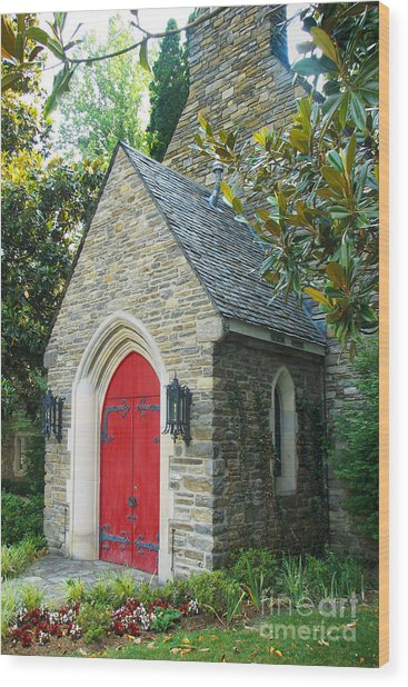 Chapel In Gatlinburg Wood Print