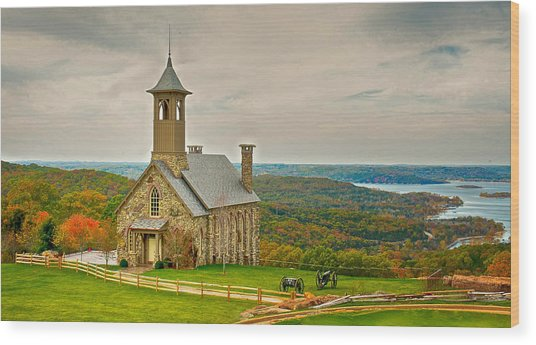 Chapel Of The Ozarks Wood Print