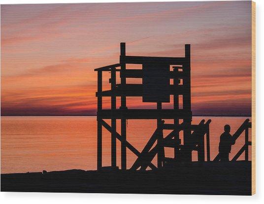 Chapoquoit Sunset Wood Print