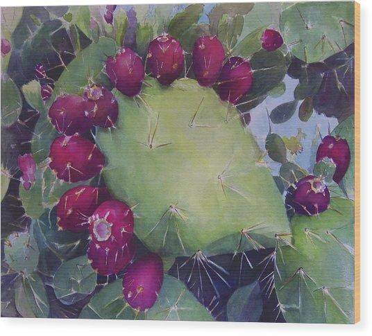 Charco De Botanico Wood Print