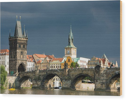 Charles Bridge Prague Wood Print