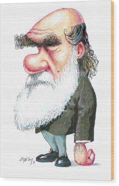 Charles Darwin Wood Print by Gary Brown