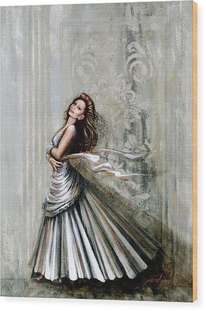 Swan Gown Wood Print