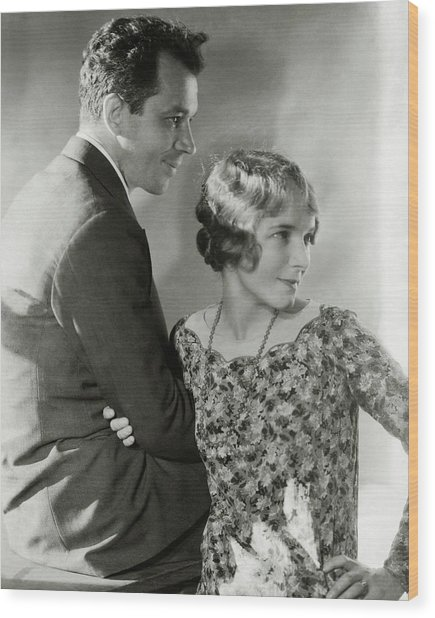 Charles Macarthur And Helen Hayes Wood Print by Edward Steichen