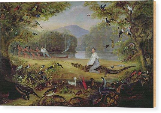 Charles Waterton Capturing A Cayman, 1825-26 Wood Print