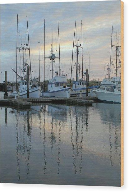 Charleston Boats Wood Print