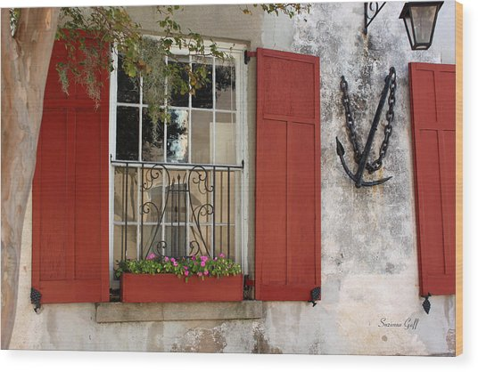 Charleston French Quarter II Wood Print