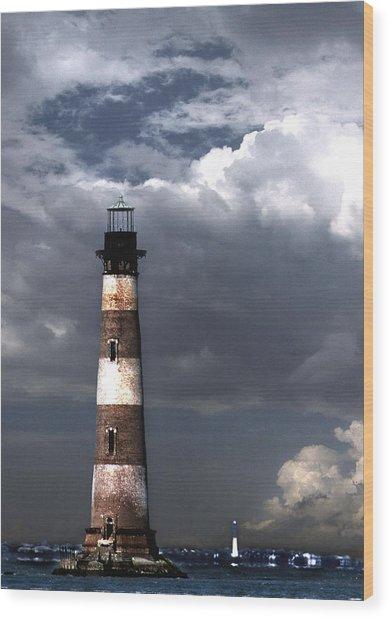 Charleston Lights Wood Print