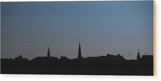 Charleston Silhouette Wood Print