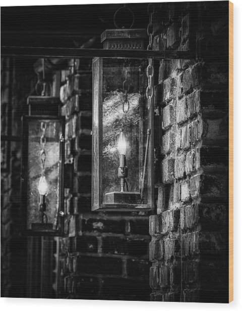 Charleston South Carolina - Lights Wood Print