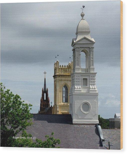 Charleston View Wood Print