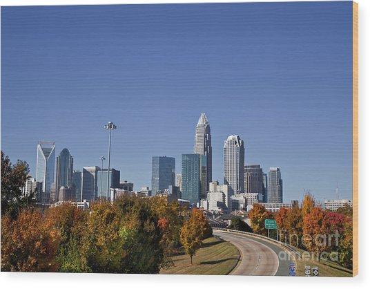 Charlotte North Carolina Wood Print