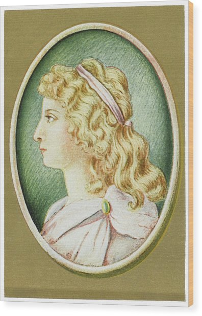 Charlotte Von Schiller  Wife Wood Print by Mary Evans Picture Library
