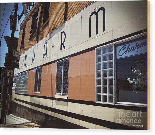 Charm Beauty Shop Pittsburgh Wood Print