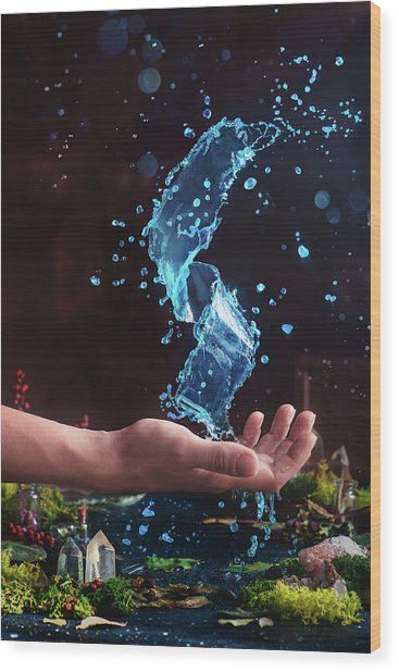 Charm Of Clear Water Wood Print