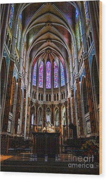 Chartres Wood Print