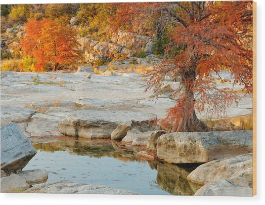 Chasing The Light At Pedernales Falls State Park Hill Country Wood Print