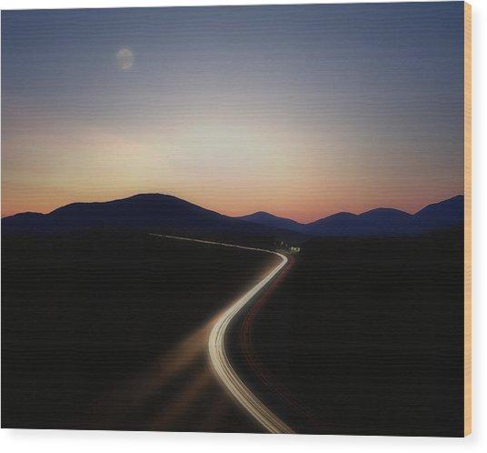 Chasing The Light Wood Print
