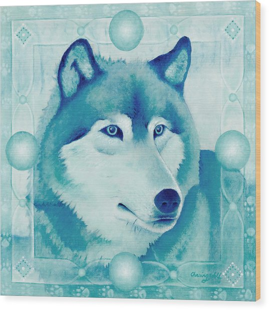 Chasing Wolf Wood Print