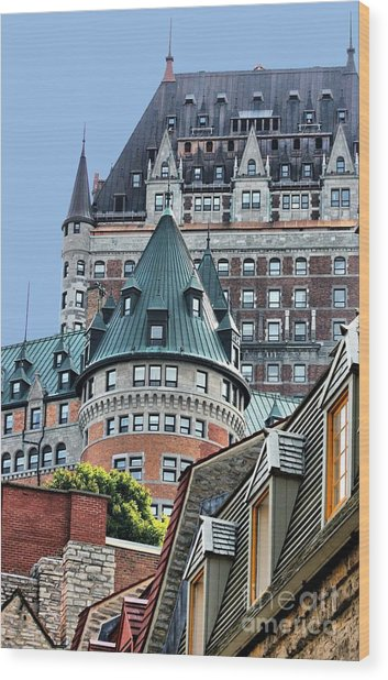 Chateau Frontenac Quebec Canada Wood Print