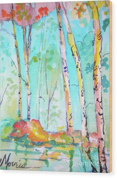 Chattahoochee River Walk Wood Print