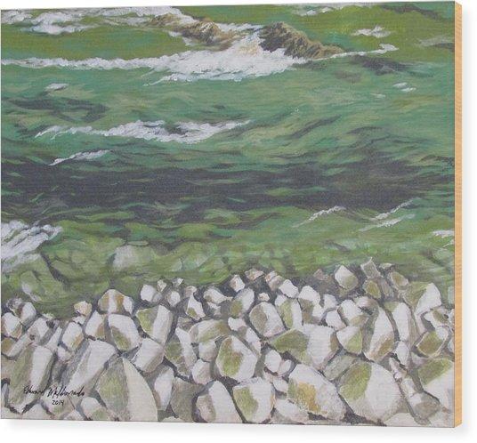 Chattahoochee Riverbank Wood Print