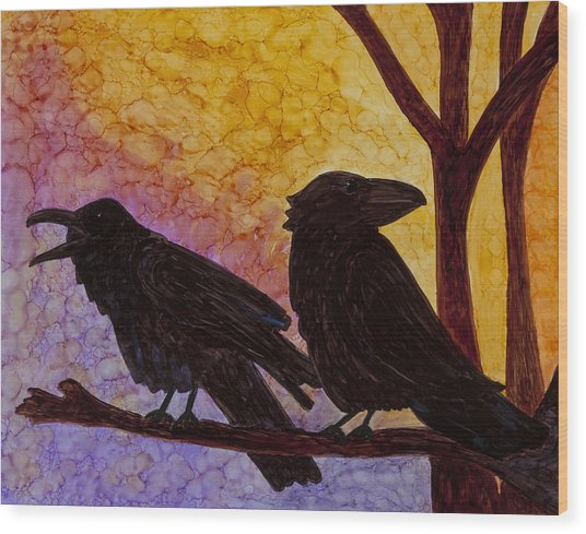 Chatter What Wood Print by Jennifer Fielder
