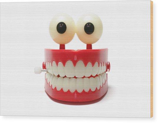 Chattering Teeth Wood Print by Blackred