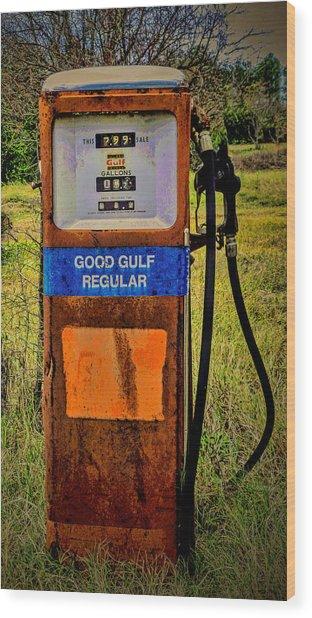 Cheap Gas Wood Print