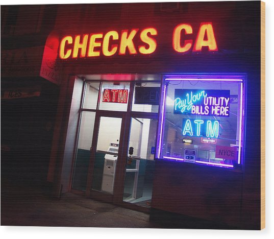 Checks Ca In Nyc Wood Print