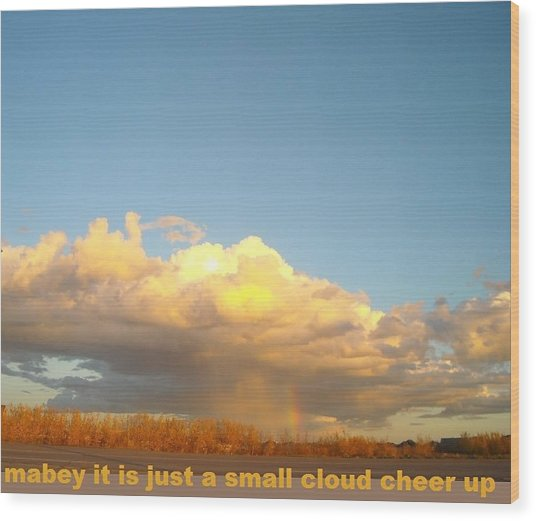 Cheer Up Wood Print