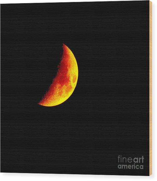 Cheese Moon Wood Print by Kip Krause