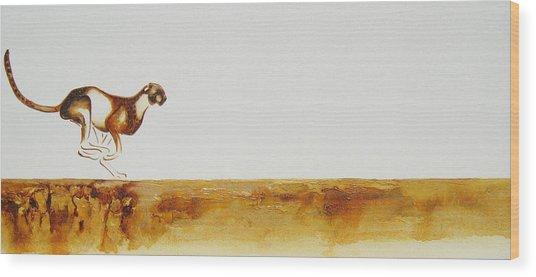 Cheetah Race - Original Artwork Wood Print