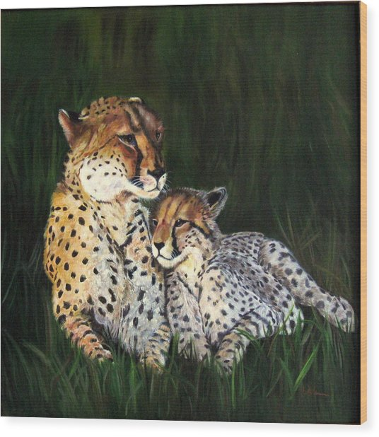 Cheetahs Wood Print