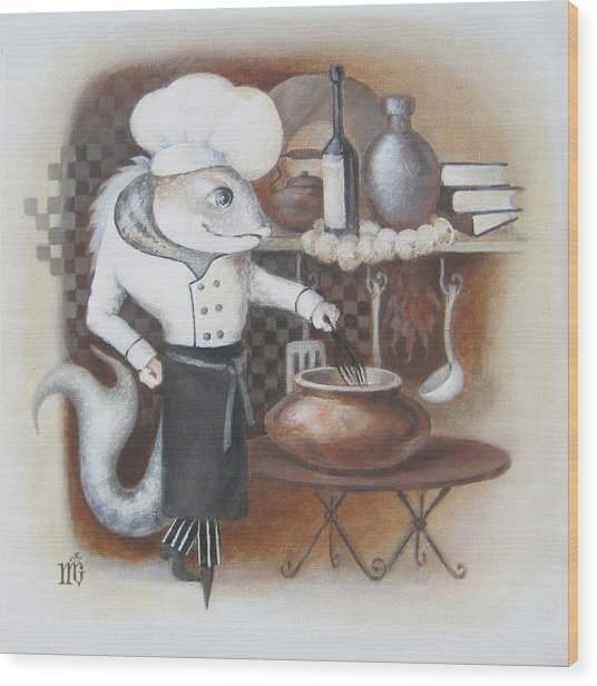 Chef Wood Print