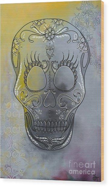 Chelsea Sugar Skull Wood Print