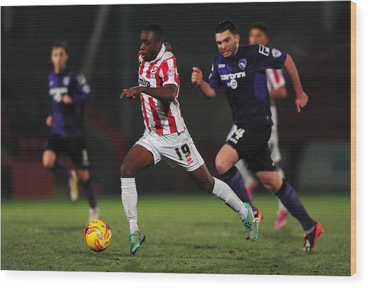 Cheltenham Town V Morecambe Fc - Sky Bet League Two Wood Print by Dan Mullan