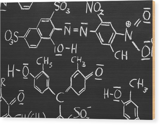 Chemical Formulas Wood Print