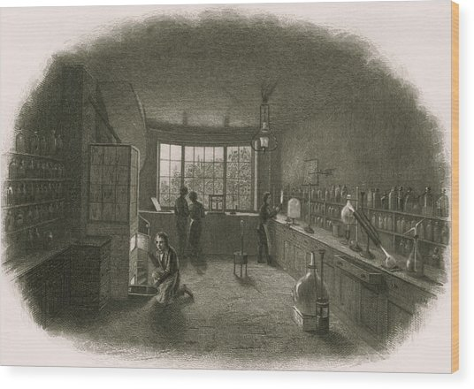 Chemistry Laboratory Wood Print by Sheila Terry/science Photo Library