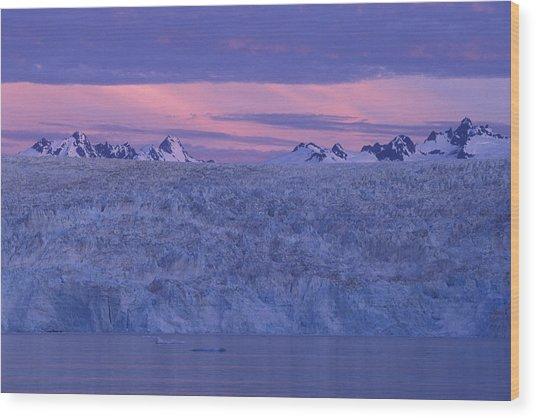 Chenega Glacier At Sunrise Wood Print by Tim Grams