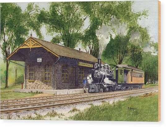 Cheneyville Station Wood Print