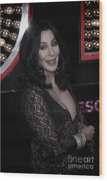 Cher Wood Print