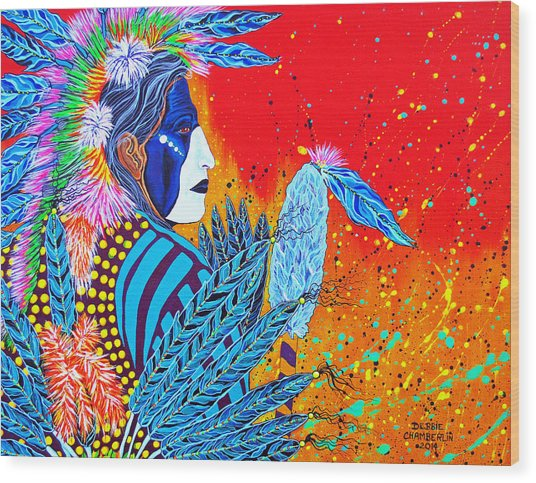 Cherokee Dancer Wood Print