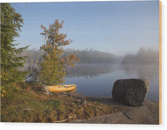 Cherokee Lake Sunrise Wood Print
