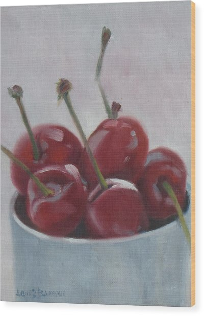 Cherries Wood Print