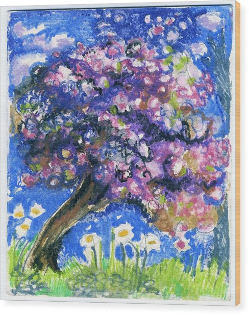 Cherry Blossom Spring. Wood Print