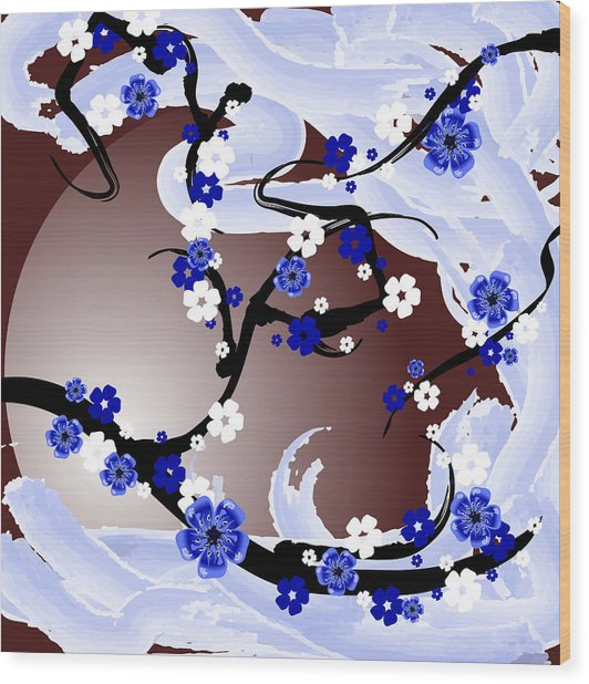 Cherry Tree_wisperwind Wood Print by Mellisa Ward