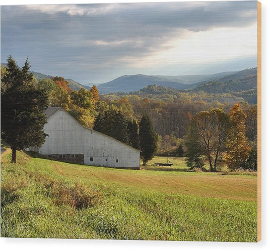 Cherry Valley Farm Wood Print