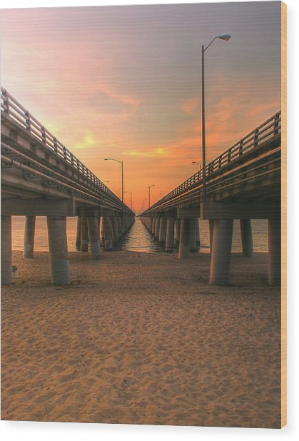 Chesapeake Bay Bridge IIi  Wood Print