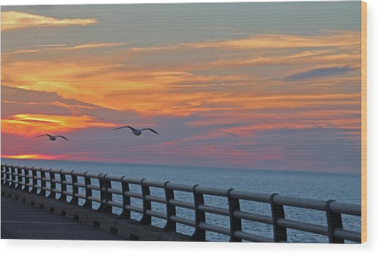 Chesapeake Bay Bridge Wood Print